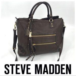 💕SALE💕Steve Madden Steven Brown Leather Bag